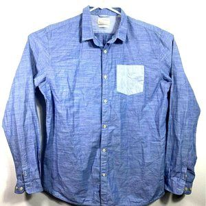 Knowledge Cotton Apparel Mens Button Front 2XL NEW